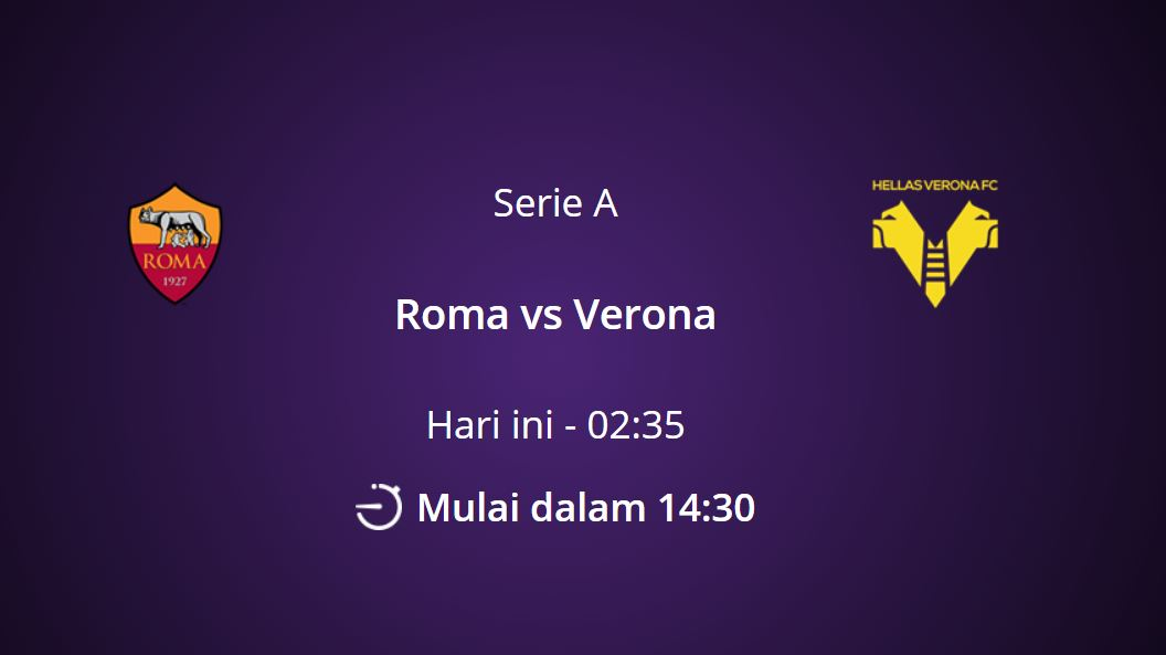 link live streaming AS roma vs Verona